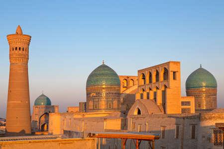 Poi Kalon mosque and minaret in Bukhara, Uzbekistan.