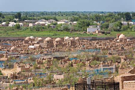 Historical Mizdakhan cemetery, in Nukus, Uzbekistan.