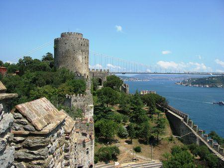 Istanbul-Bosforus-Rumeli hisar Stock Photo