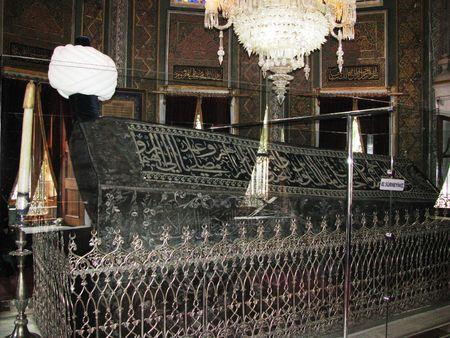 mehmet: Istanbul,Fatih mosque,The sarkofag of sultan Mehmet II-the conqueror