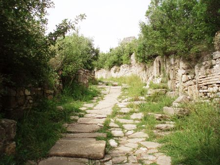 Turkey,Aspendos,ancient road Stock Photo - 4665678