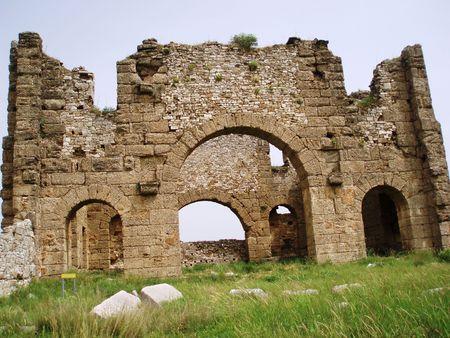 gradually: Turkey-Aspendos,Byzantine basilica