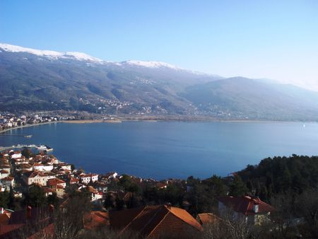 Macedonia-Ohrid,main view Stock Photo