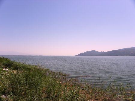 kerkini: General view of part of the lake Kerkini in northern Greece. Stock Photo