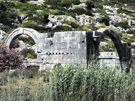 byzantine: Remains of Bishop in Mira at the time of the Byzantine Empire.