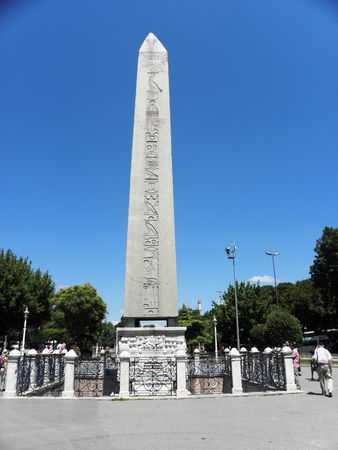 constantinople: Egyptian obelisk from the time of Pharaoh Tutmos III, offered in Constantinople at the time of Emperor Theodosius.