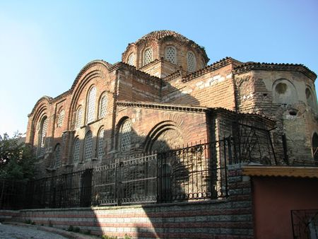 constantinople: Pantepoptes monastery church build in 1100year in Constantinople