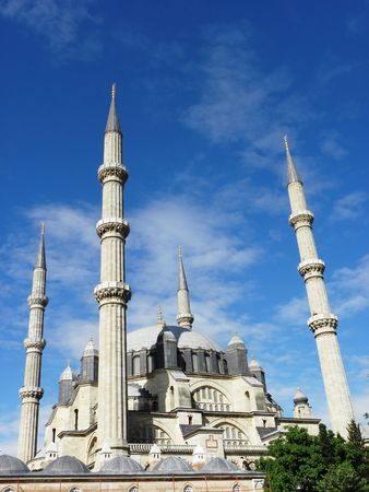 Mosque-Selimie in Edirne, the largest in Europe with high minarets of the 101 meters.