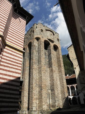Security tower at Rila Monastery built in the mid-14th century. photo