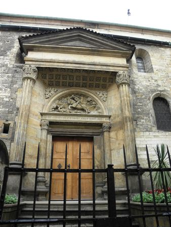 vitus: One of the entrances of St. Vitus Cathedral in Old Prague.