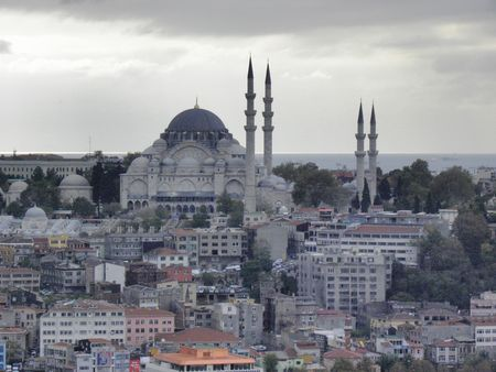 suleyman: Impressive Mosque of Sultan Suleyman Outstanding against the Golden Horn.