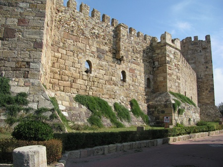conqueror: Genoese fortress in Chandarla restored during the reign of Mehmet the Conqueror. Stock Photo