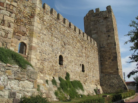 mehmet: Genoese fortress in Chandarla restored during the reign of Mehmet the Conqueror. Stock Photo