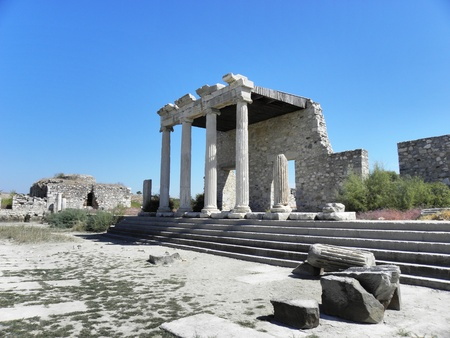 Part of the Market Square in Miletus with remnants of the storage building.
