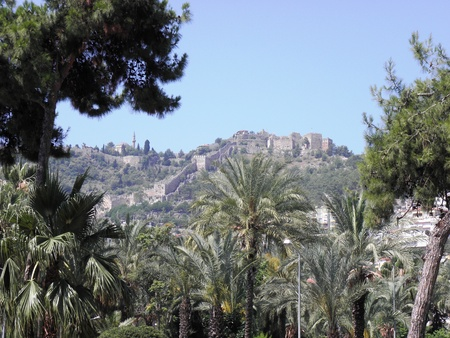 seljuk: View from Alanya to the Seljuk fortress.