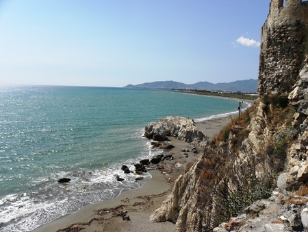 seascapes: Beautiful seascapes from the walls of the fortress in Anamur.