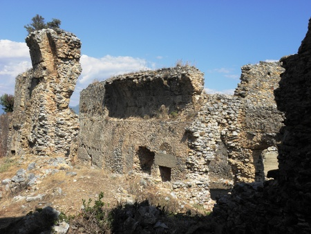 The ruins of the Palestra-school for physical training of all young people from the 3rd century.