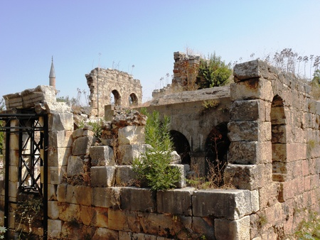 2nd century: Remains of -The Korkut(truncate minaret) mosque build first in the 2nd century by the Romans as a temple in the 6th century Byzantine church and mosque in the 15th century.