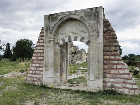 One of the gates of the palace of Mehmet the Conqueror in Edirne  Stock Photo