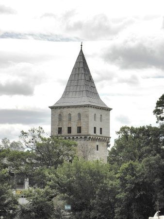 well build: Well preserved tower of the palace of Mehmet the second build in 15th century in Edirne