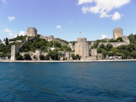 Rumeli Hisar fortress built on the European shore of the Bosphorus before the fall of Constantinople  Stock Photo