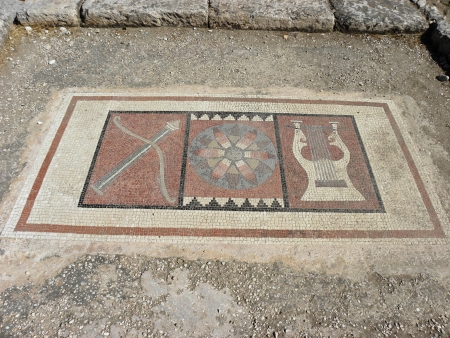 perfectly: Perfectly preserved mosaic floor of the temple of Apollo at Letoon