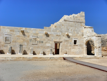 senators: Hall meeting of Senators in Patara  Odeon  largely restored respects with the view  Stock Photo