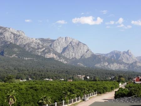 Landscape of the majestic Taurus mountains near Antalya  Stock Photo
