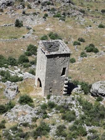 watchtower: Well-preserved watchtower in ancient Sillyon
