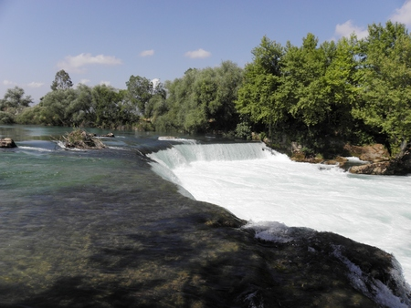 eponymous: Manavgat Waterfall on the eponymous river in the Mediterranean region of Turkey in Antalya