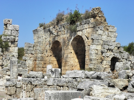 remains: Remains of ancient Perge in the south to Nyymphaeummphaeum