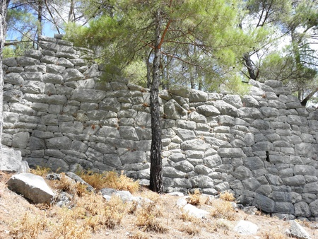fortification: Preserved part of the city fortification wall of Kadyanda.