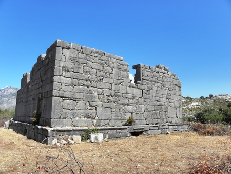 Roman temple and tomb of the second century in the ancient Sidyma.