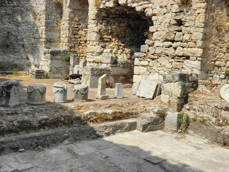 Debris of buildings in the ancient Caunos