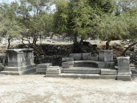 Very good preserved Exedra to Nymphaeum near Agora in ancient city Caunos.