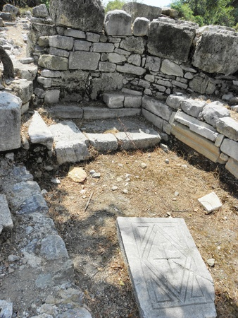 basillica: The ruins of a small Byzantine basilica in the ancient Agora Caunos.