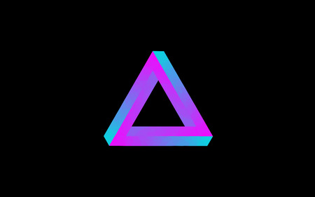 impossible: Low Poly Impossible Triangle Illustration