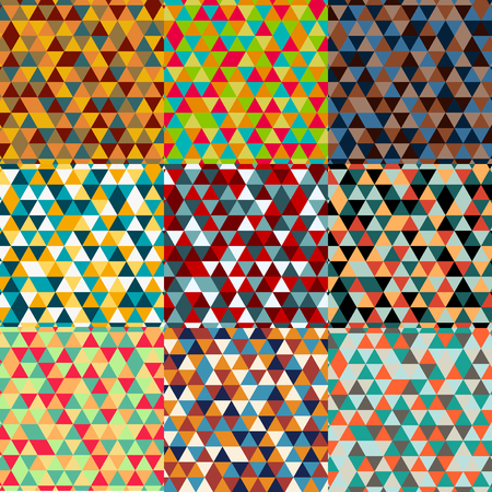 Triangle pattern background Vactor pack Illustration