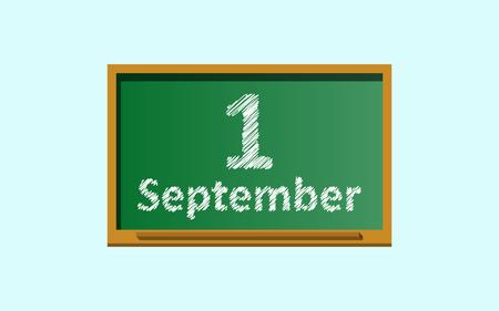 greenboard: school supply green board design icon vector illustration Illustration
