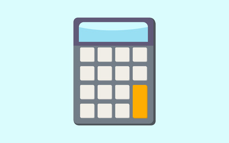 math icon: calculator math isolated icon
