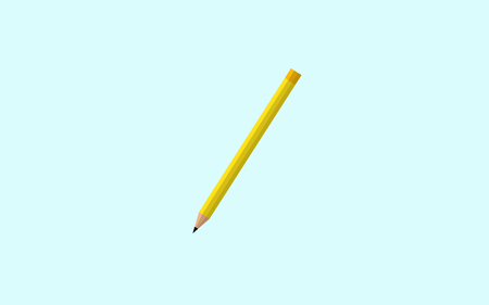 Pencil icon vector illustration. Isolated badge flat design for website or app - stock graphics Illustration