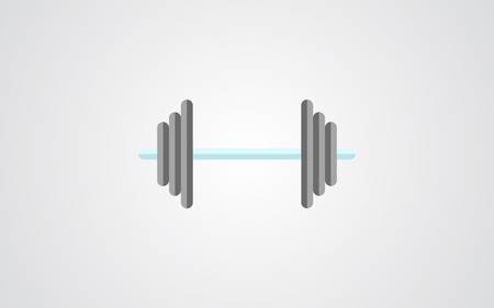 dumbell: dumbell icon. dumbell sign shadow flat