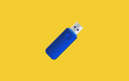 USB Flash drive gradient vector design