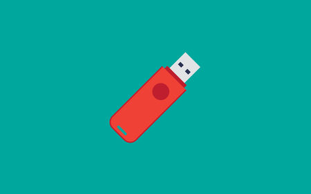 USB Flash drive flat design vector