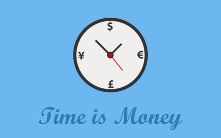 Time is money concept background