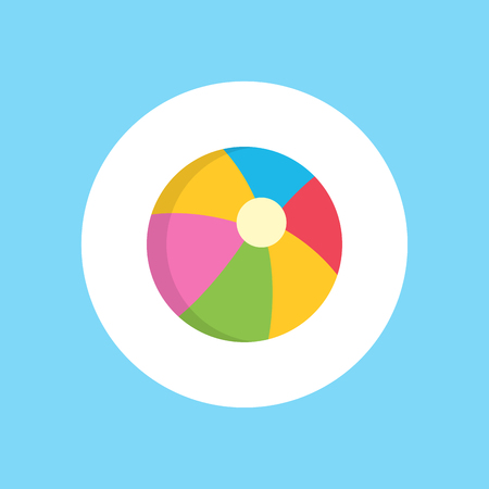 Isolated simple black beach ball icon from white background