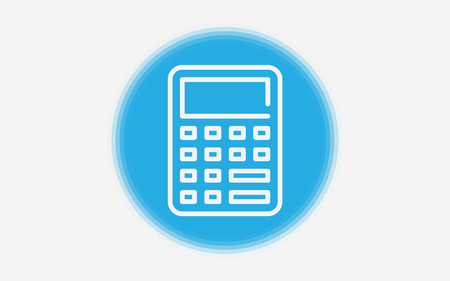 Beautiful, meticulously designed Math Calculator Icon. Perfect for use in designing and developing websites, printed materials and presentations, Promotional Materials, Illustrations or Infographics or any type of design projects