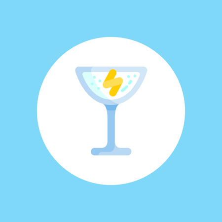 Cocktail icon. Cocktail drink symbol on simple background for interface button or for menu design.