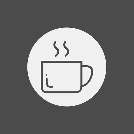Coffee cup icon on white background. Vector illustration