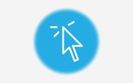 Simple vector illustration of mouse cursor icon on white background Illustration
